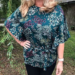 Amelia Belted Waterfall Top Pattern