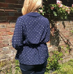 Tie Front Kimono Jacket Kit - navy spot (sizes 10-28)