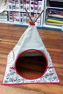 Teepee Pattern (two sizes cat/child)