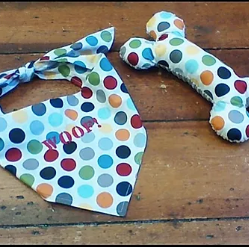 Dog Bandana and Bone sewing pattern