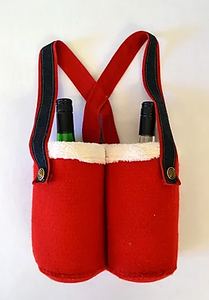Santa Trousers Bottle Holder Pattern