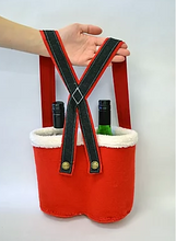 Load image into Gallery viewer, Santa Trousers Bottle Holder Pattern