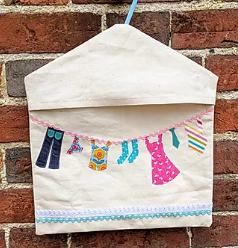 Peg Bag with applique pattern