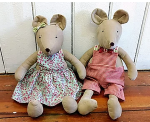 Outfits for Harriet & Henry Mice and Teddy Pattern