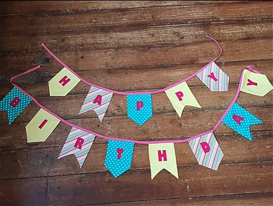 Flag Bunting with lettering Pattern