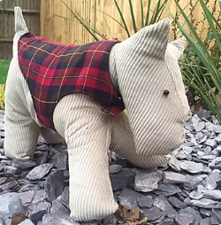 Scottie Dog with Dog Coat Pattern