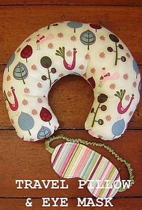 Travel pillow and Eye Mask Pattern