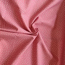 Load image into Gallery viewer, Dusky pink star print 100% cotton fabric