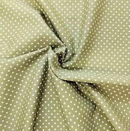 Green small spot print fabric