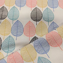 Colourful leaves heavy-weight cotton x 1/2 metre