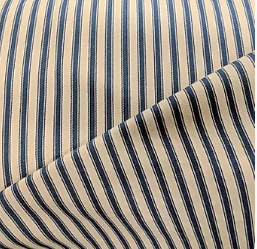 Navy Ticking Fabric x 1/2 metre