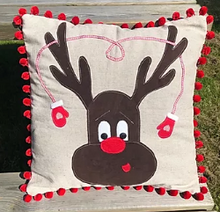Load image into Gallery viewer, Christmas Reindeer Cushion Kit