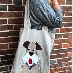 Dog Applique Tote Bag kit