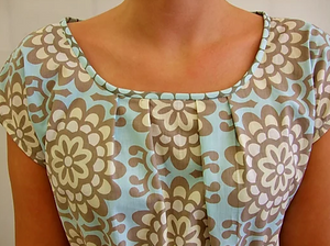 Pleat neck tunic pattern