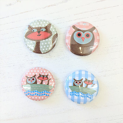 Badges - set of four