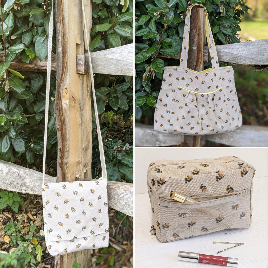 Set of three bags - bees