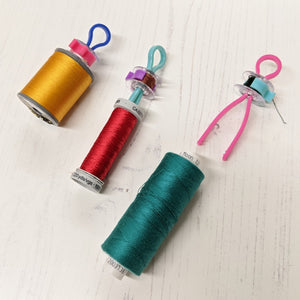 Set of 12 thread & bobbin organisers with bobbin clamps