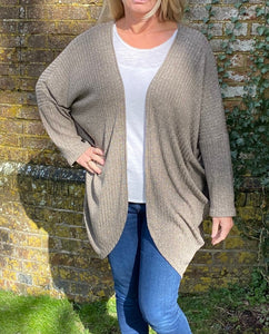 Cocoon Cardigan kit - Camel (sizes 10-28)
