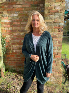 Cocoon Cardigan kit - forest green