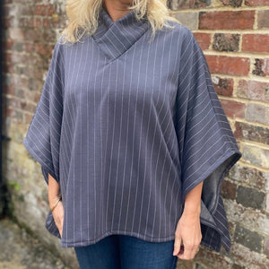 Collared Cosy Top Kit - Grey stripe