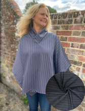 Load image into Gallery viewer, Collared Cosy Top Kit - Navy stripe