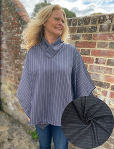 Collared Cosy Top Kit - Navy stripe