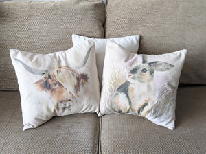 Country Cow and Cute Bunny cushion kit
