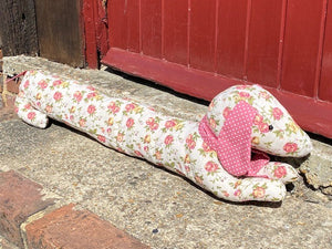 Sausage Dog Draft Excluder Floral Sewing Kit