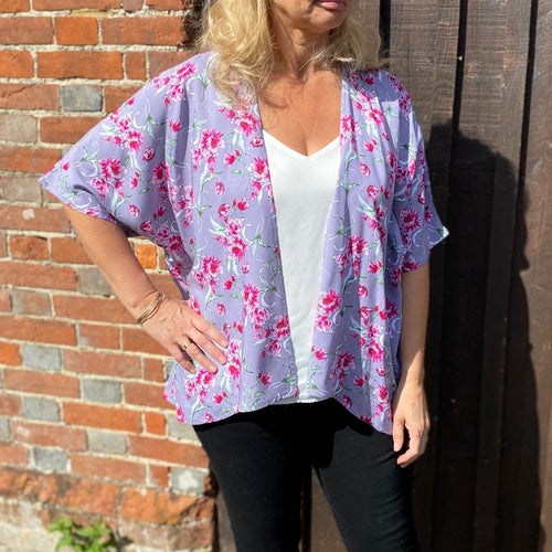 Kimono Jacket sewing pattern. NEW larger size range of UK10-28. Each pattern includes two size options 10-18 & 20-28.