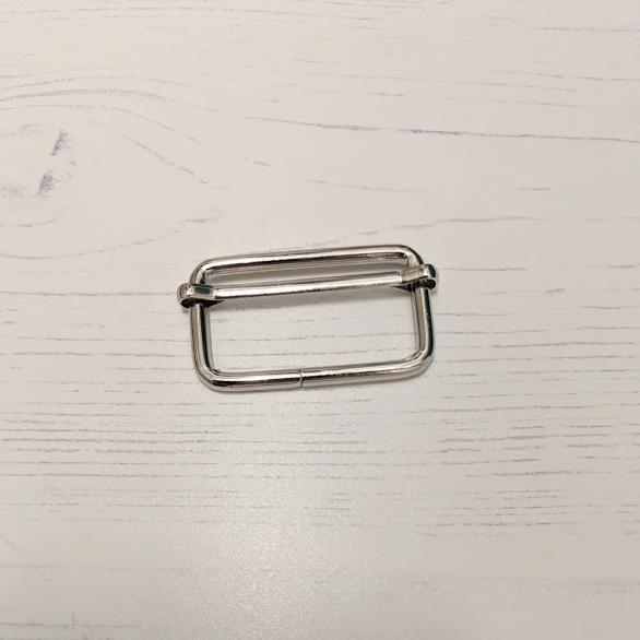 Metal Rectangle Adjuster size 25mm - used for the 3 way bag