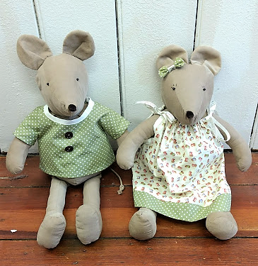 Cute mice set sewing pattern
