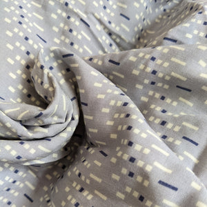 Fabric Remnant - grey dash viscose - 85cms