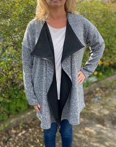 waterfall jacket sewing kit in grey