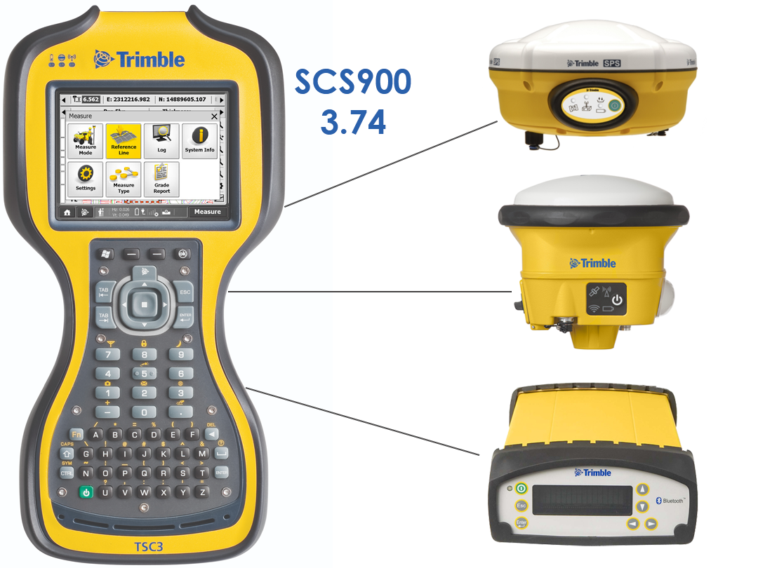 Trimble SCS900 ver 3.74 Compatibility Chart of SPS Receivers and Total Stations, TSC3