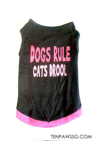 Dog Rules Cat Drools Singlet-Tee