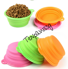 *RESTOCKED* Foldable Outdoor Portable Rubber Bowls (3 Colors)