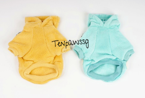 Fluffy Little Dream Bears Hoodie (Available in Pastel Blue or Pastel Yellow)