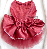 Princess's Dinner Gown (2 Colors: Dark Blue or Wine Red)