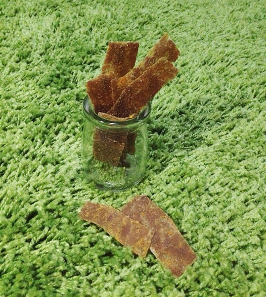Free Range Pork Strips with Carrot, Pumpkin and Organic Flaxseed Meal