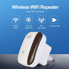 Wifi Extender Booster - Long Range Signal Booster Router For Internet Speed