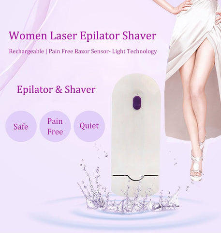 USB Laser Hair Removal At Home - Rechargeable Women Epilator Portable Laser Hair Removal Tool Rotary Shaver Body Face Leg Bikini Lip Depilator Hair Remover