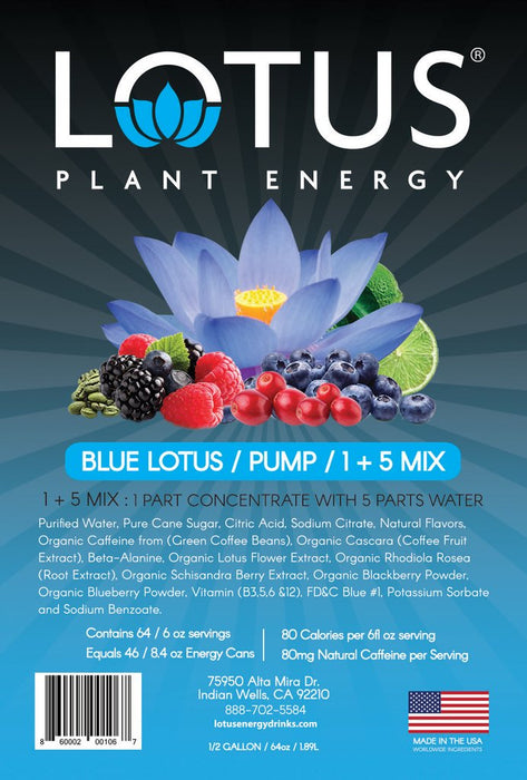Blue Lotus Energy Concentrate 1/2 Gallon Pump & Serve