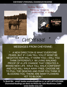 Channelled Message CHEYENNE