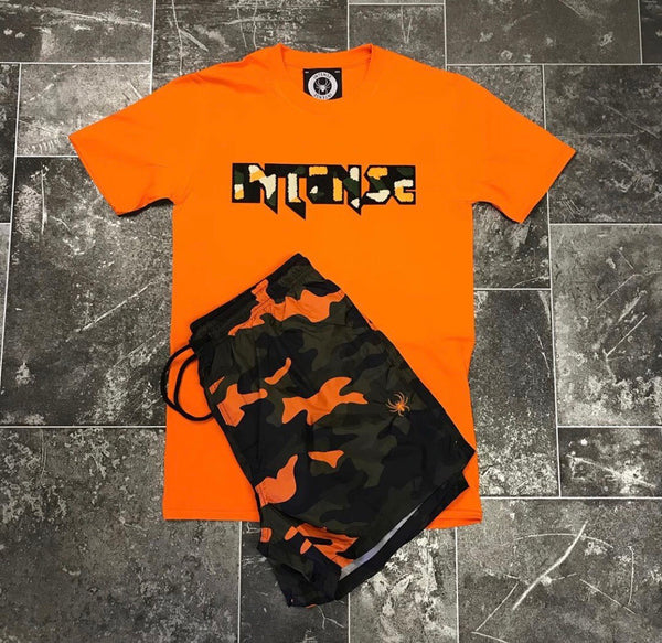 Orange Camo Twin Set