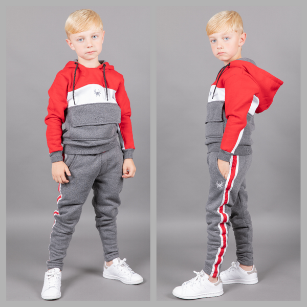 Kids Arctic tracksuit red
