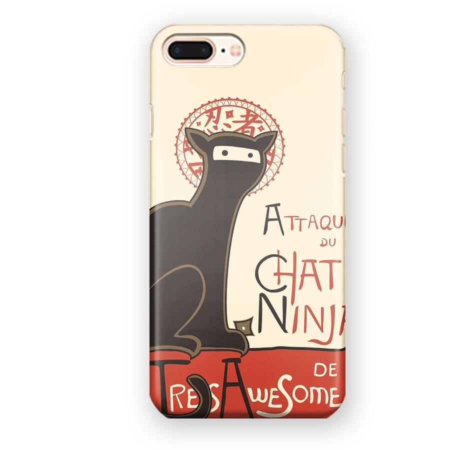 A French Ninja Cat iPhone 7 Plus / 8 Plus Case