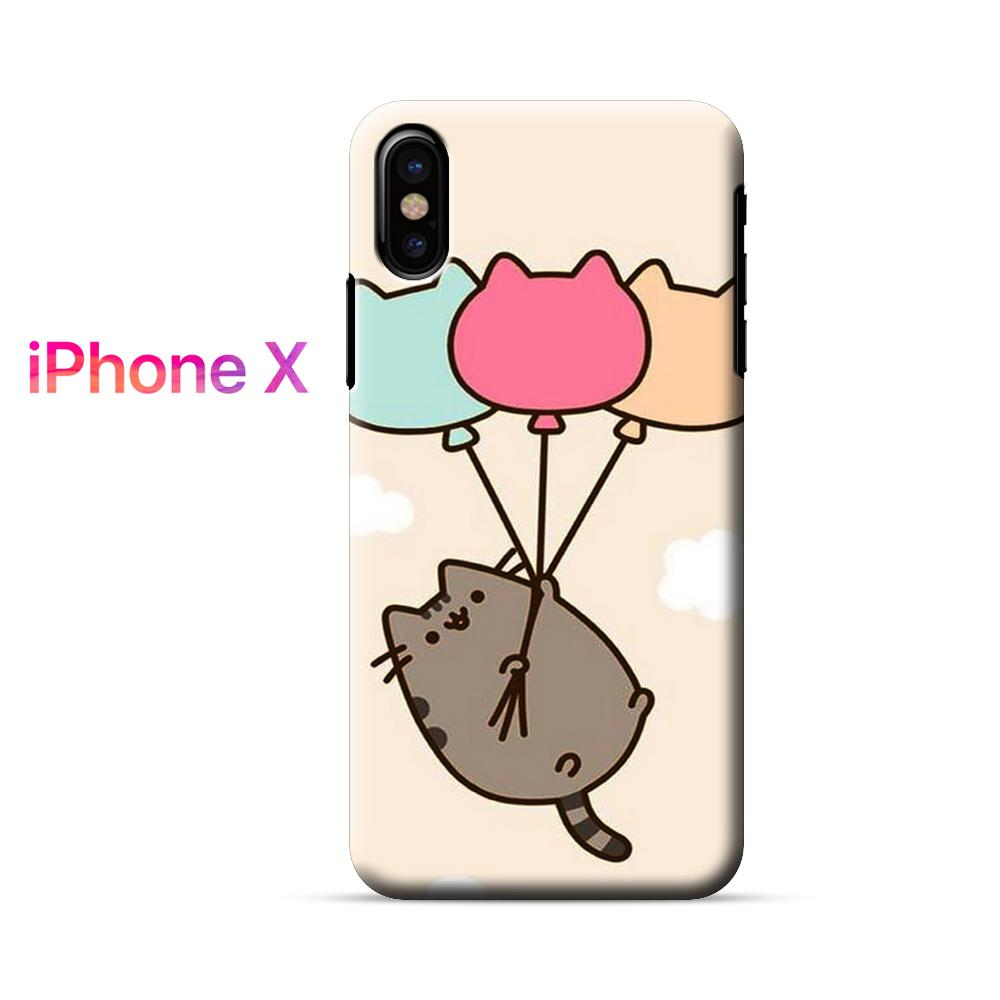 Pusheen The Cat With Balloons iPhone X Case