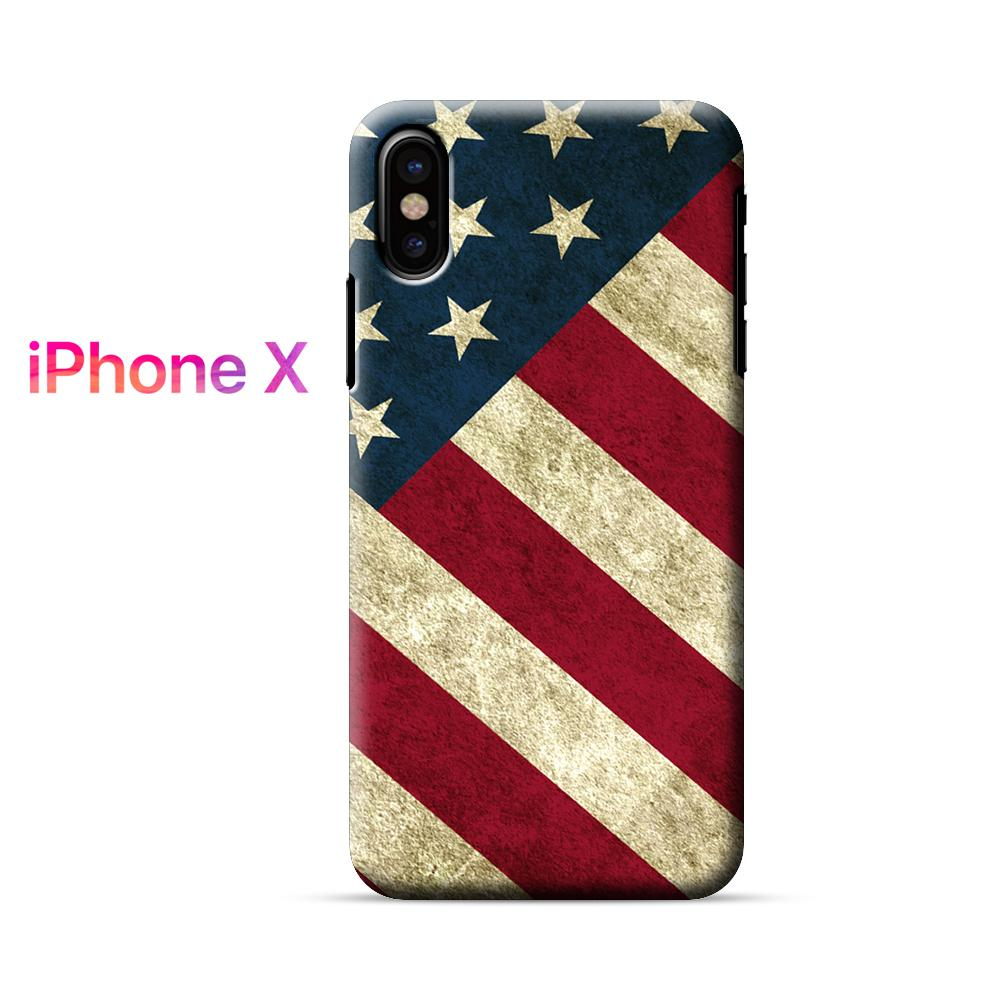 American Flag Vintage iPhone X Case