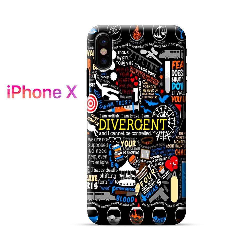 Divergent Quotes Collage iPhone X Case