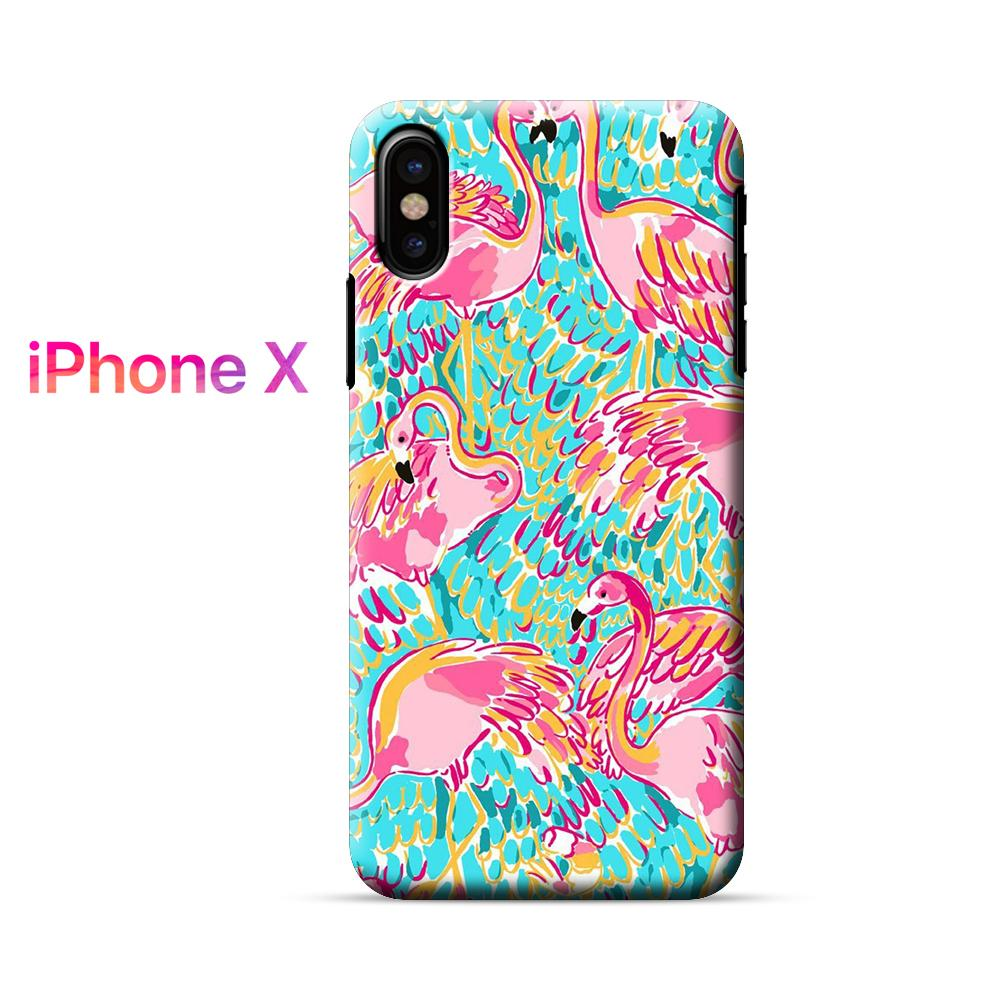 Lilly Pulitzer Flamingo iPhone X Case